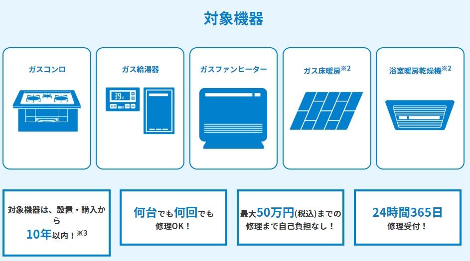 東京ガスガス機器修理サービス